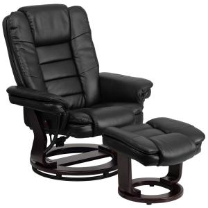 Deals on Flash Furniture Contemporary Leather Recliner and Ottoman