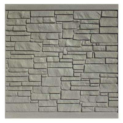 6 ft. H x 6 ft. W EcoStone Gray Composite Fence Panel
