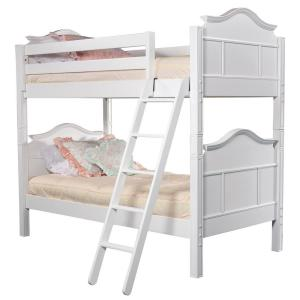 Emma White Twin Bunk Bed