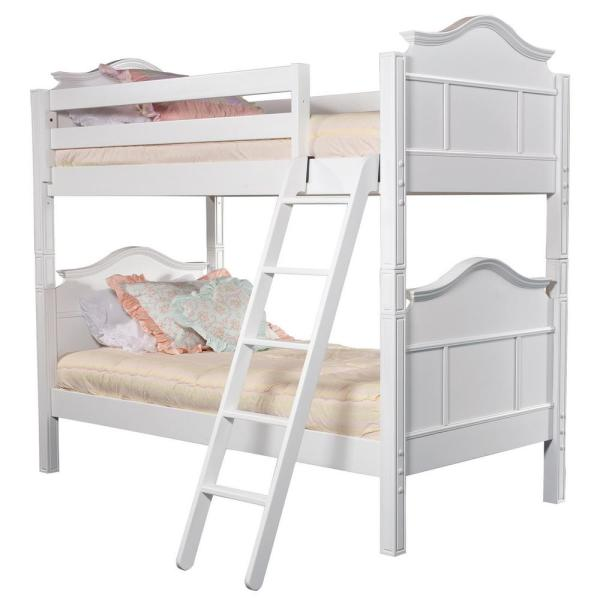undefined Emma White Twin Bunk Bed
