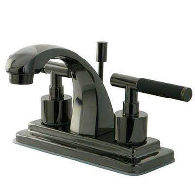 4 in. Centerset 2-Handle Bathroom Faucet in Black Stainless Steel