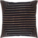 Shrewsbury Black Geometric Polyester 22 in. x 22 in. Throw Pillow