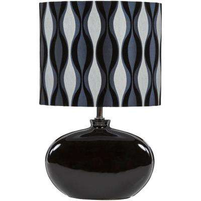 Wendell 19 in. Black Indoor Table Lamp