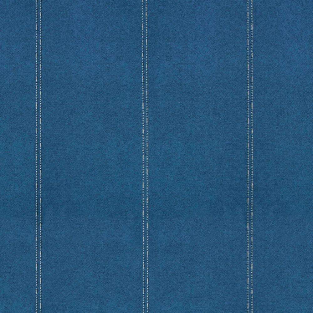 The Wallpaper Company 56 sq. ft. Blue Textural Stripe Wallpaper
