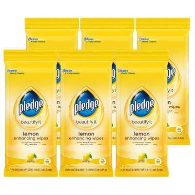 24-Count Lemon Enhancing and Disinfecting Wipes (6-Pack)