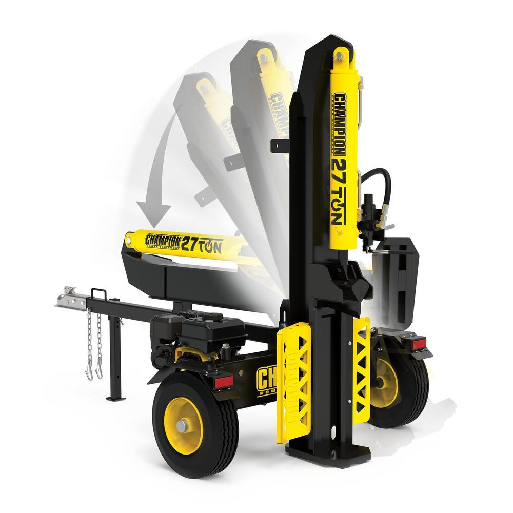 Champion Power Equipment 27 Ton 224 Cc Log Splitter 100424 The Home Depot