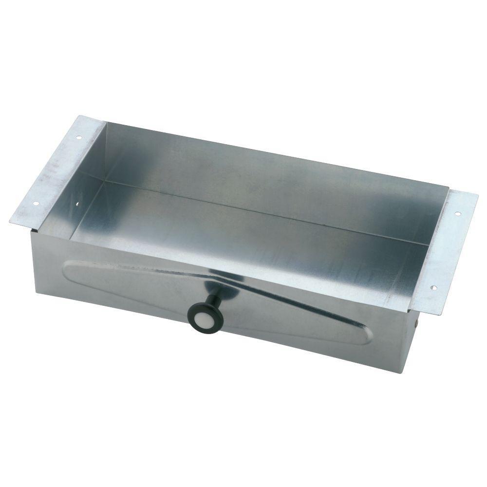 Recessed Vanity Facial Tissue Box in Galvanized Steel