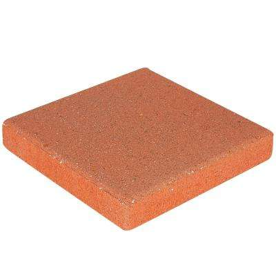 12 in. x 12 in. x 1.57 in. Terracotta Square Concrete Step Stone (168-Pieces/168 sq. ft./Pallet)