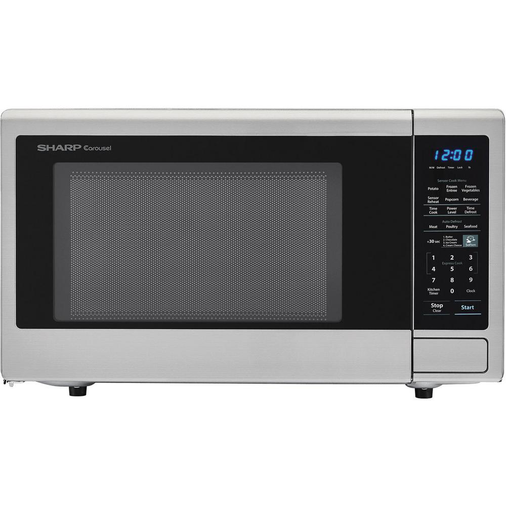 Sharp Orville Redenbachers Certified 1.4 cu. ft. Carousel Countertop Microwave Oven in Silver and 4 Blu-ray 3D Movies