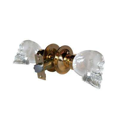 Skull Crystal Brass Passive Door Knob with LED Mixing Lighting Touch Activated