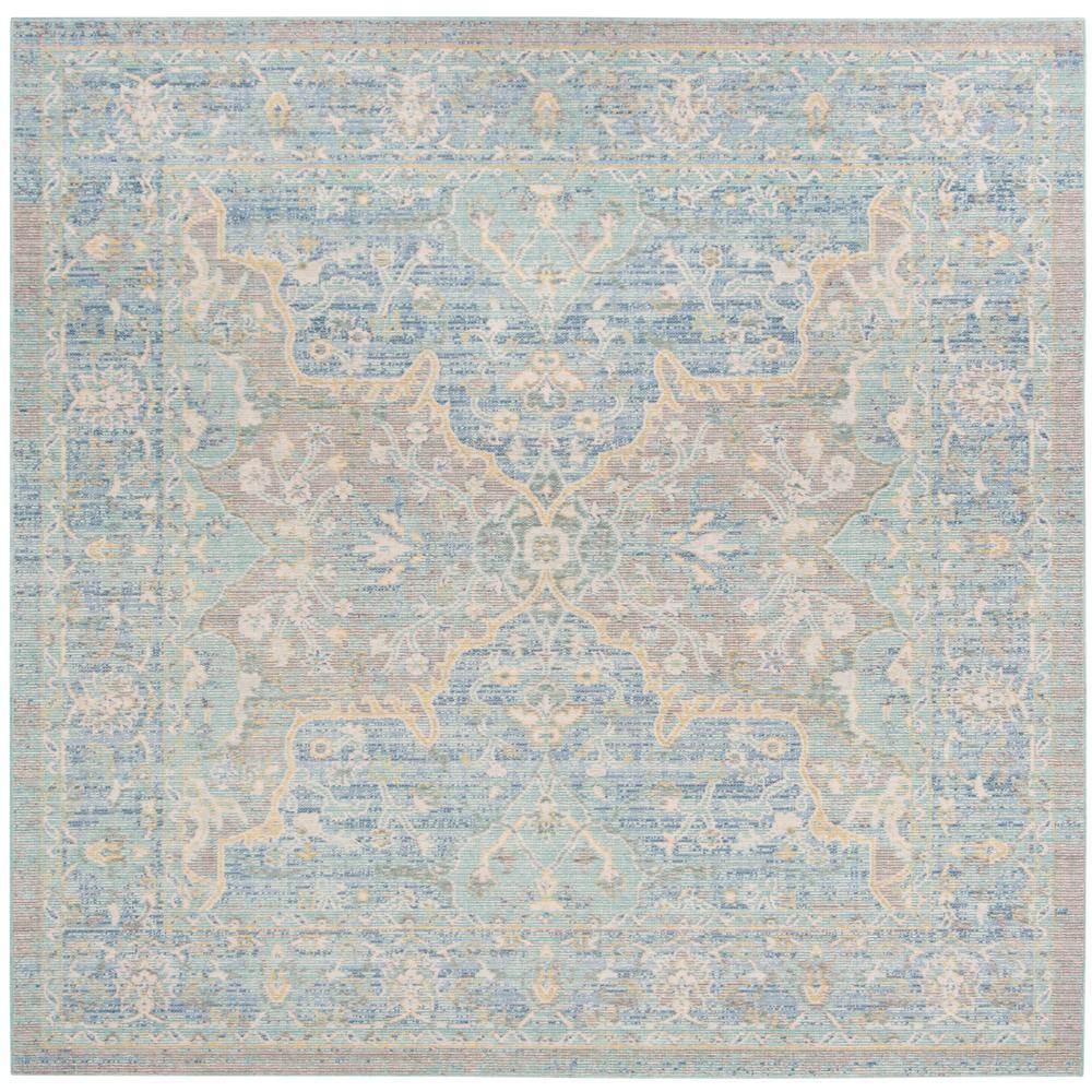 Safavieh Windsor Seafoam Blue 6 Ft X Square Area Rug