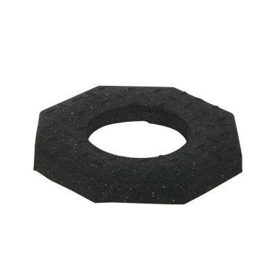 10 lb. Black Rubber Channelizer Base