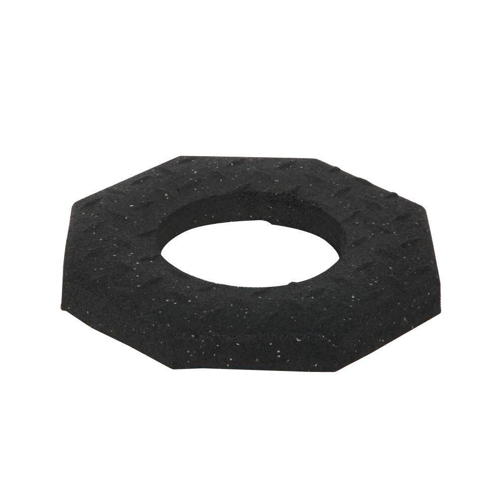 10 lb. Black Rubber Channelizer Base