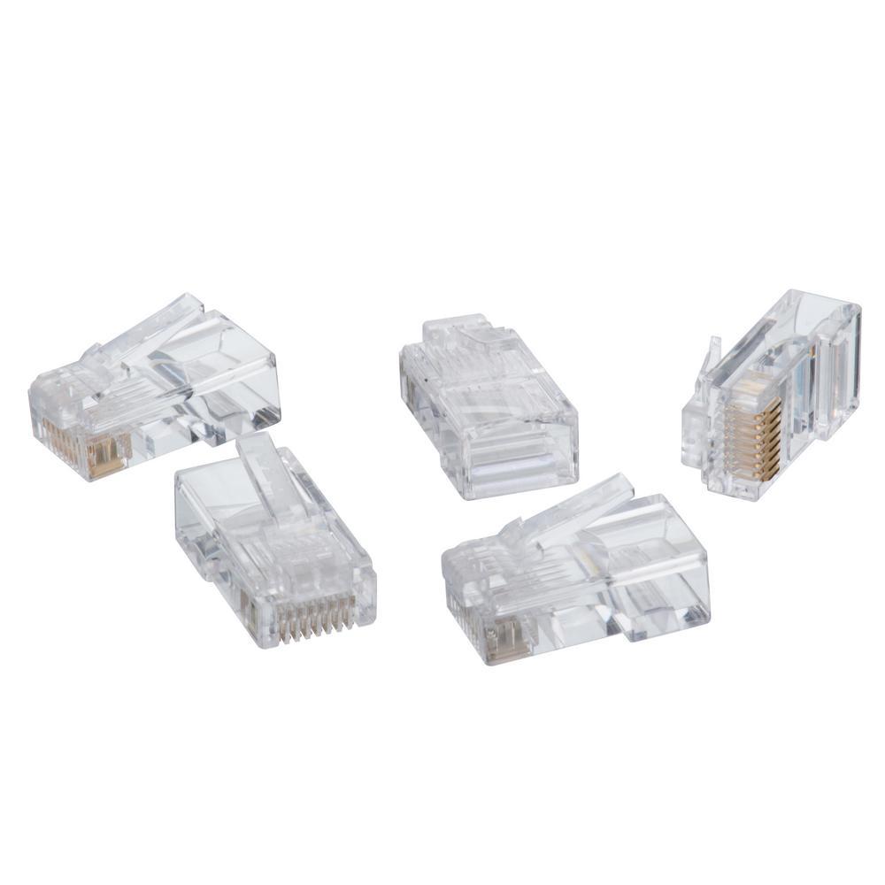 RJ-45 8-Position 8-Contact Category 5e Modular Plugs (100 per Pack)