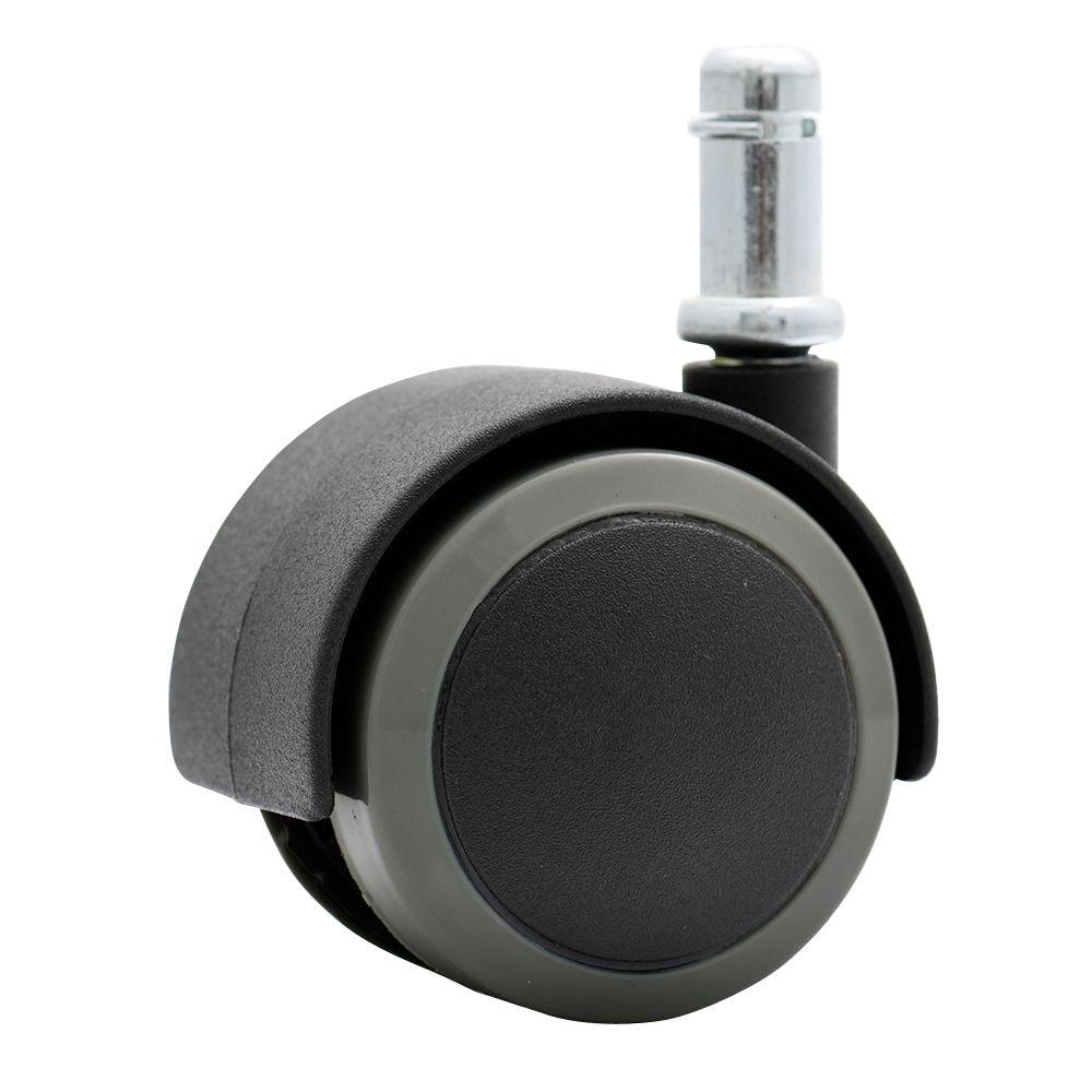 Rubber PU Office Chair Casters Safe For Hardwood Floors Black And Dark