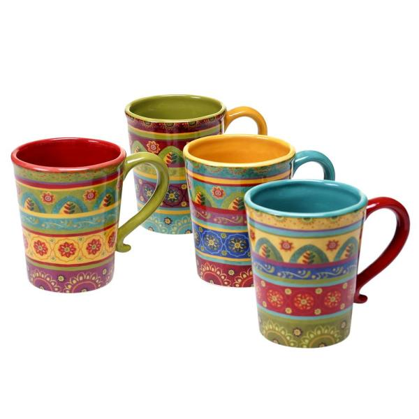 Certified International Tunisian Sunset 18 oz. Mug (Set of 4)