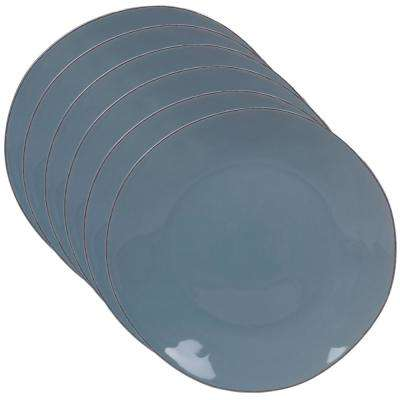 Harmony 6-Piece Teal 11 in. Dinner Plate Set