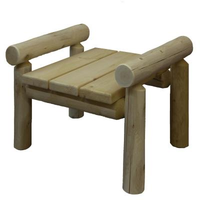 20 in. x 24 in. Cedar Patio Ottoman with Pine Top