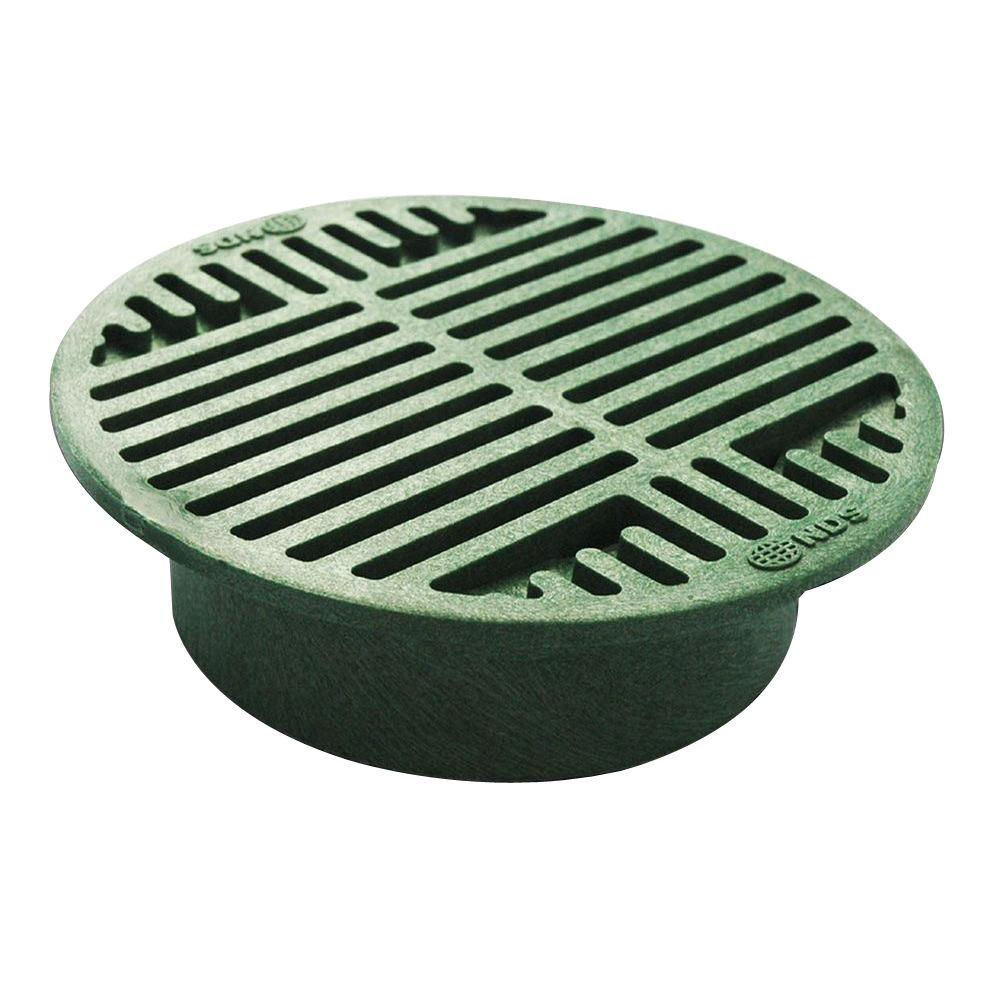 Nds 8 In Plastic Green Grate 20 The Home Depot