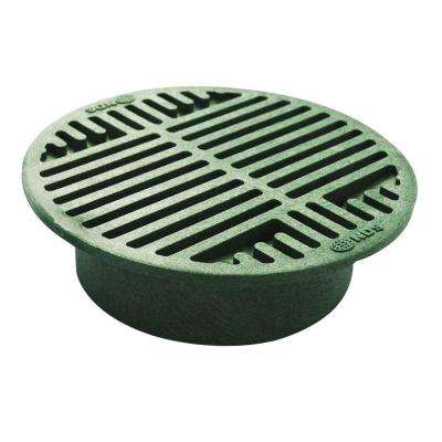 8 in. Plastic Green Grate