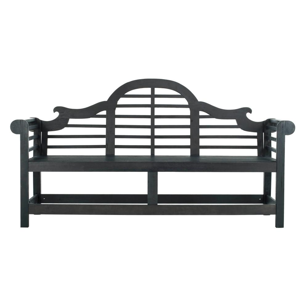 Khara 76.8 in. Dark Slate Gray Wood Outdoor Bench