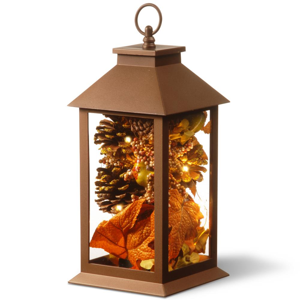 National Tree Company 15 In. Autumn Lantern Decor With LED