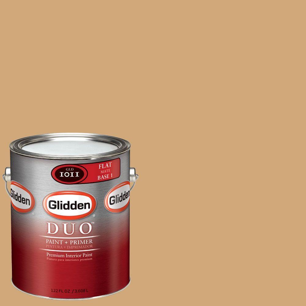Glidden DUO Martha Stewart Living 1-gal. #MSL080-01F Burlap Flat Interior Paint with Primer-DISCONTINUED
