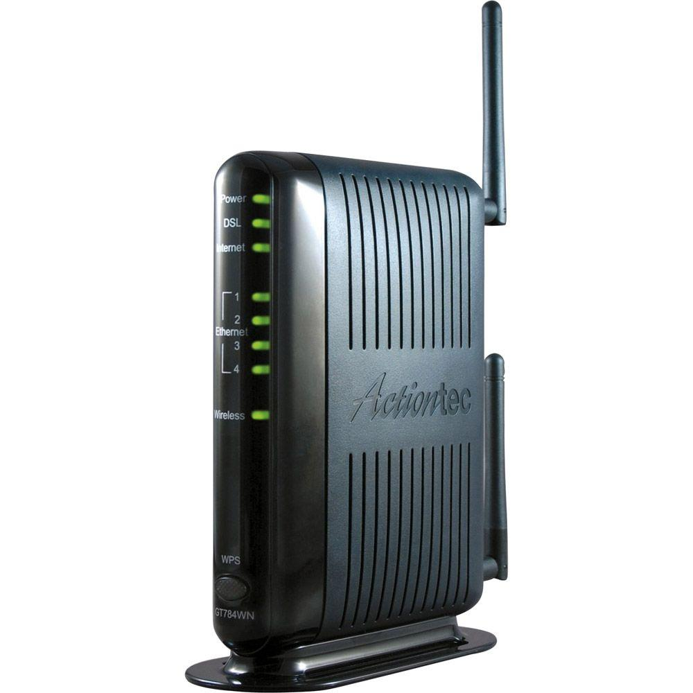 Cable Services In My Area >> Actiontec IEEE 802.11 N Wireless Router-GT784WN-01 - The Home Depot