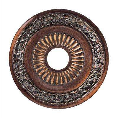 Belcaro Walnut 20.75 in. Ceiling Medallion