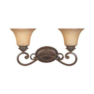 Mendocino 2-Light Forged Sienna Wall Light