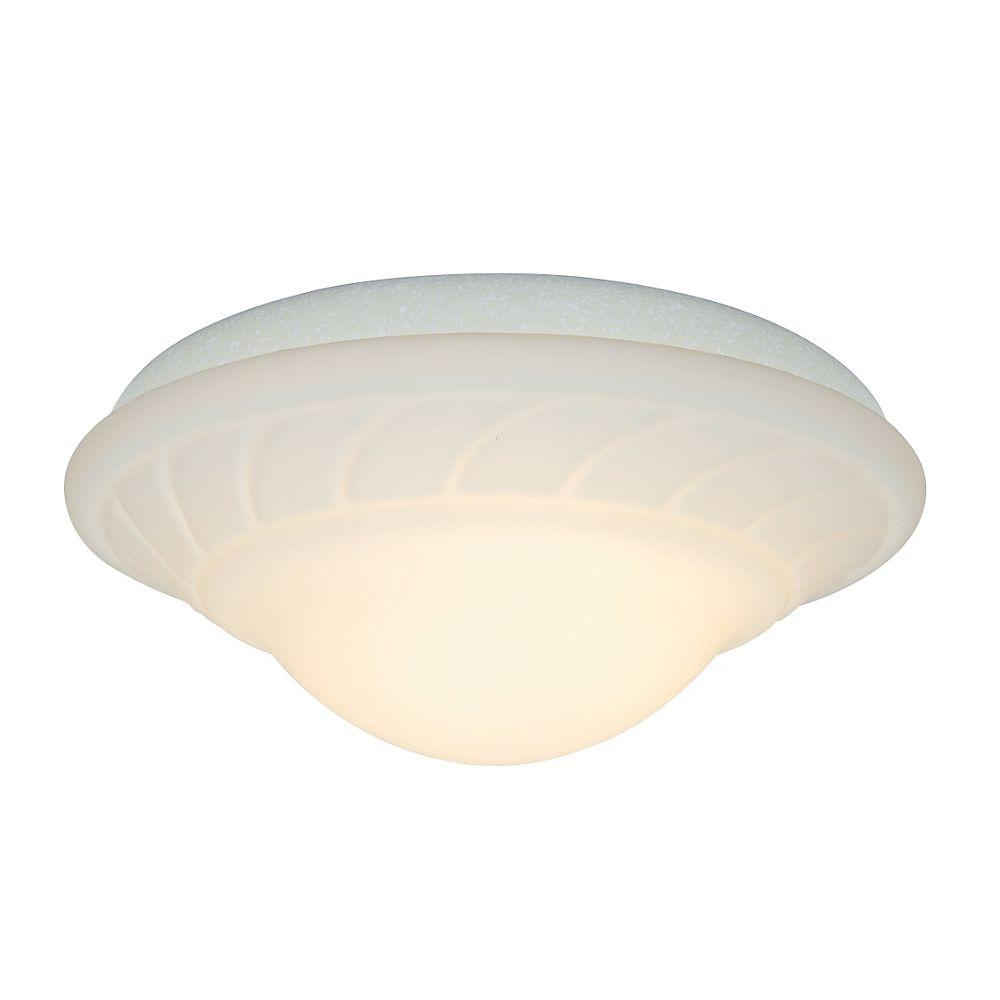Casablanca 2-Light Navajo White Ceiling Fan Center-Stem Wet-Location Fixture with Globe-DISCONTINUED