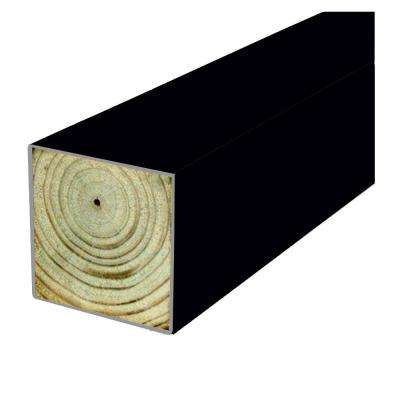 4 in. x 4 in. x 8 ft. #2 DF Polymer Coated Black Fence Post