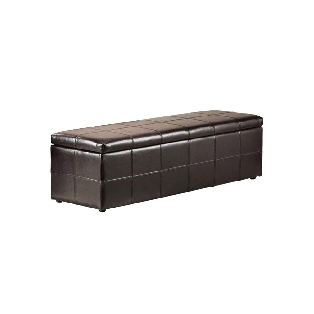 Dark Brown Storage Bench