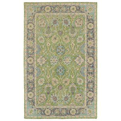 Weathered Lime Green 5 ft. x 8 ft. Indoor/Outdoor Area Rug