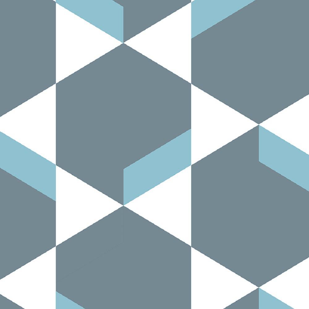 Madison Avenue Blue and Grey 13.2 ft. x 100 lin. ft. Full Roll Residential Vinyl Sheet Flooring