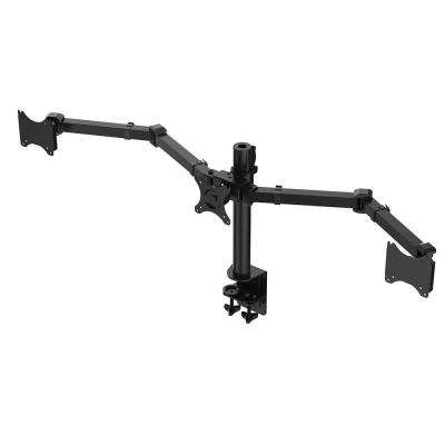 Desk Mounts LCD Stand Triple Monitor Arm Fits 10 in. - 27 in. LCD Screens Clamp Support 22 lbs. Each Monitor