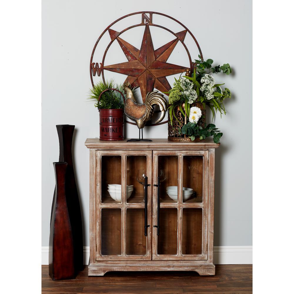 Brown Rectangular 2-Door Cabinet