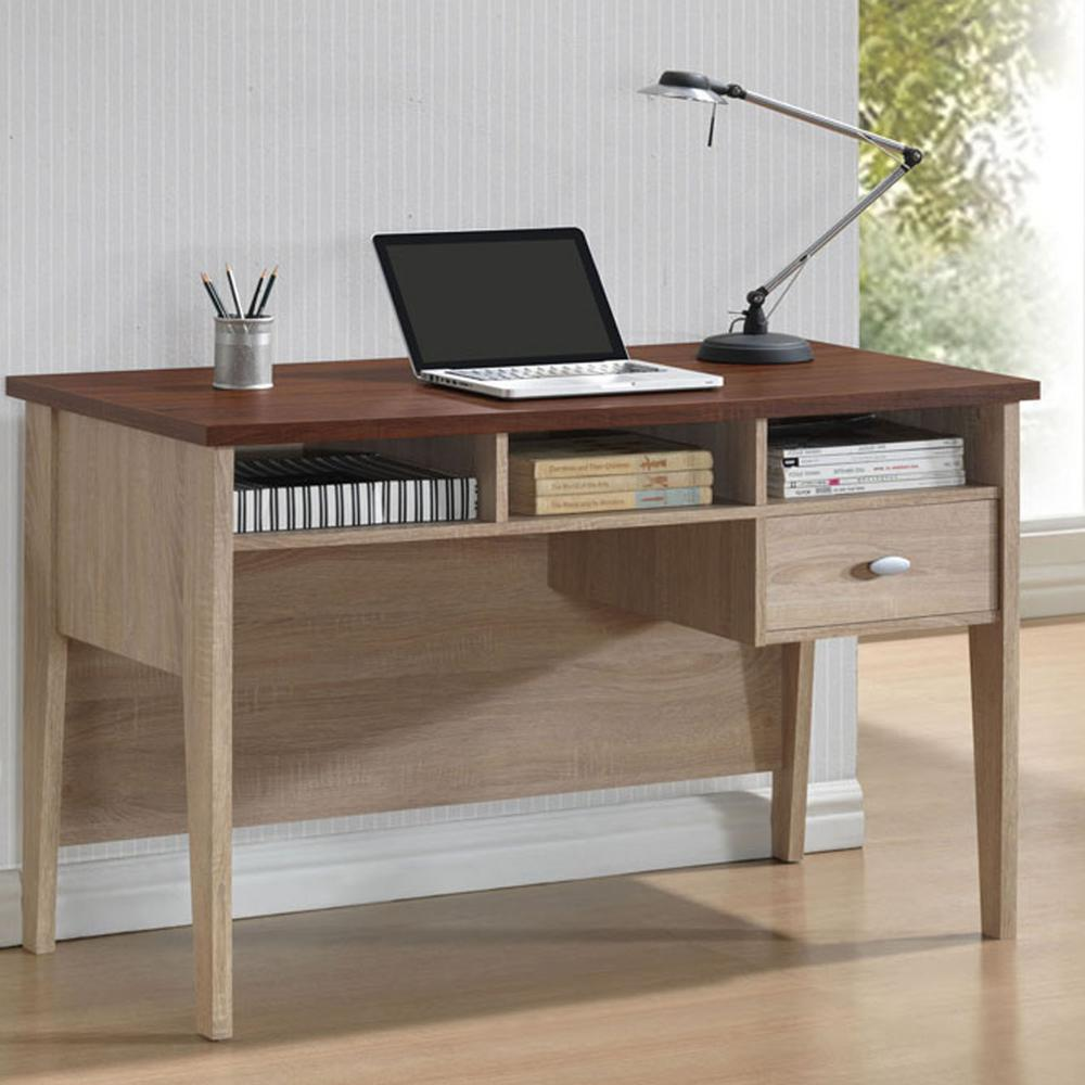 Baxton Studio Tyler Contemporary White Finished Wood Desk
