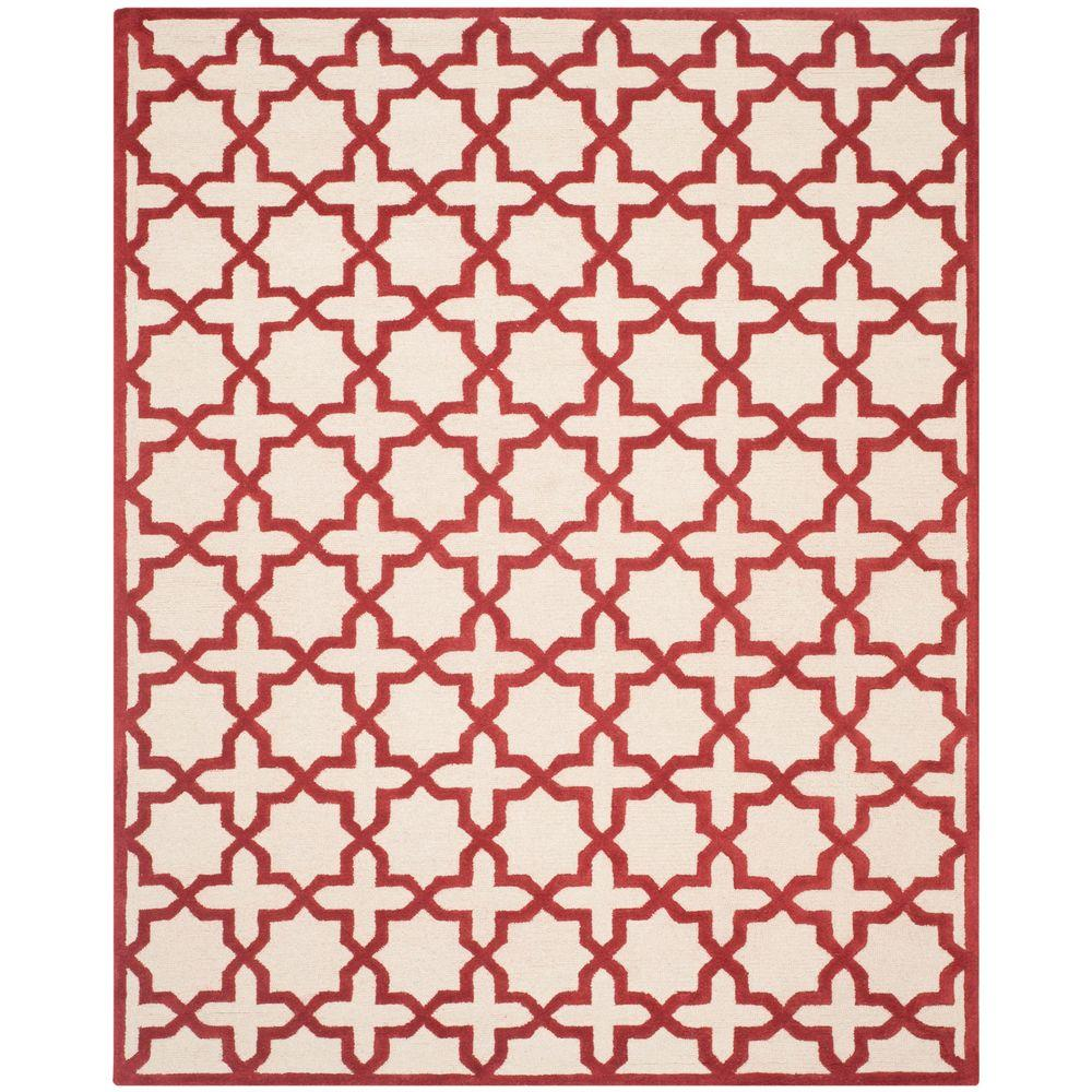 Cambridge Ivory/Rust 8 ft. x 10 ft. Area Rug