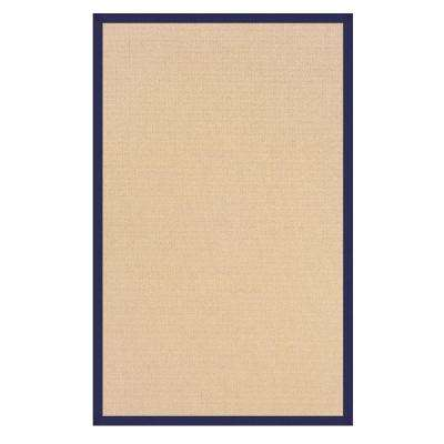 Athena Natural and Blue 5 ft. x 8 ft. Area Rug