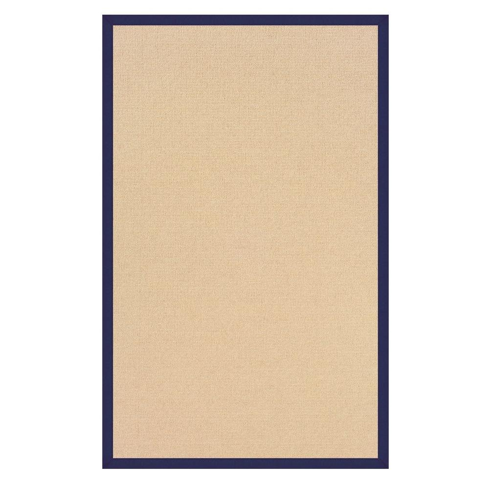 Athena Natural and Blue 8 ft. x 11 ft. Area Rug
