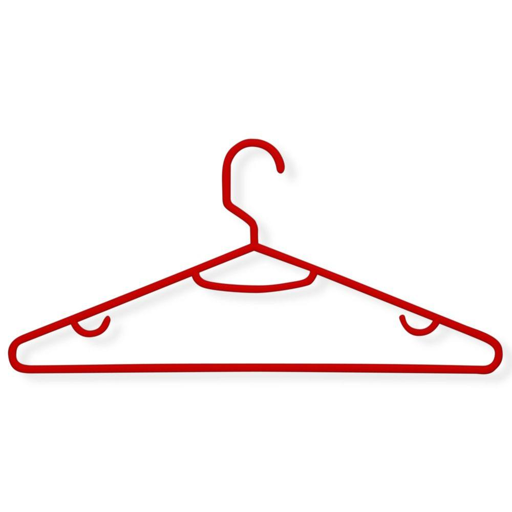 Honey-Can-Do Red Recycled Plastic Hangers (60-Pack)