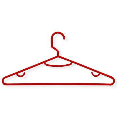 Red Recycled Plastic Hangers (60-Pack)