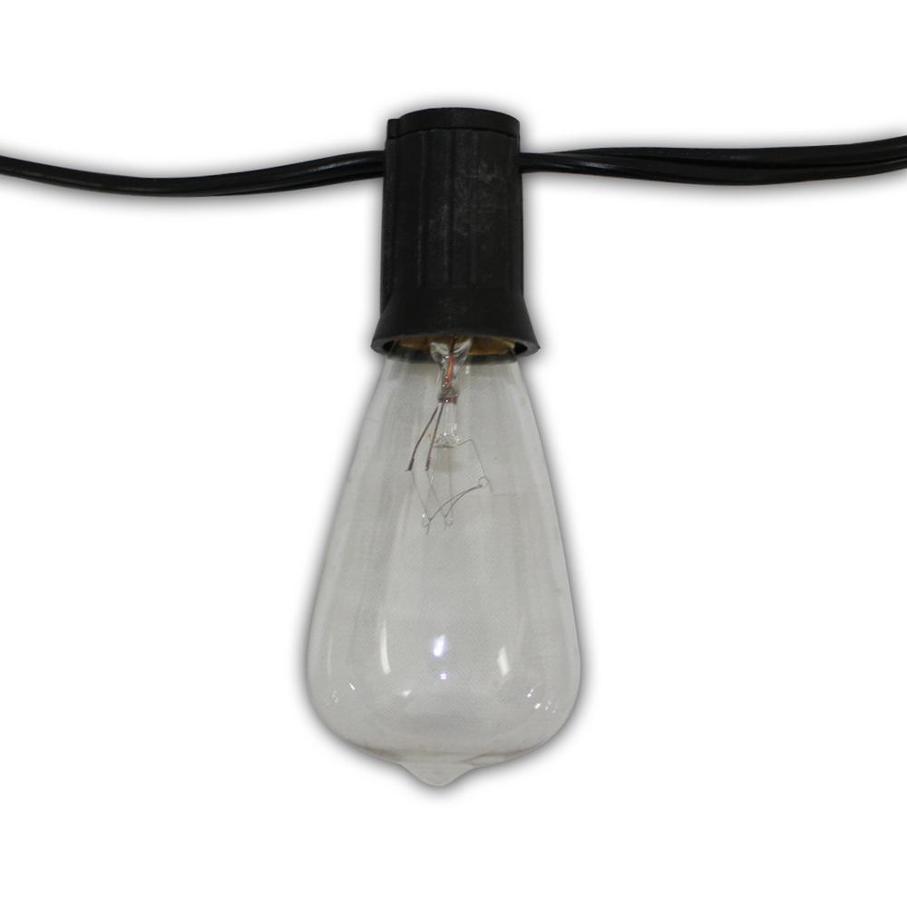 Edison Vintage 24-Light 48 ft. String Light With Clear Antique Bulbs - Edison Vintage 24-Light 48 Ft. String Light With Clear Antique Bulbs