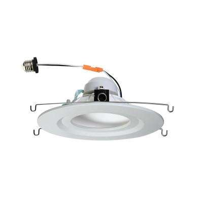 5 in. and 6 in. White Integrated LED Diffusion Recessed Trim with E26 Connector 4000K