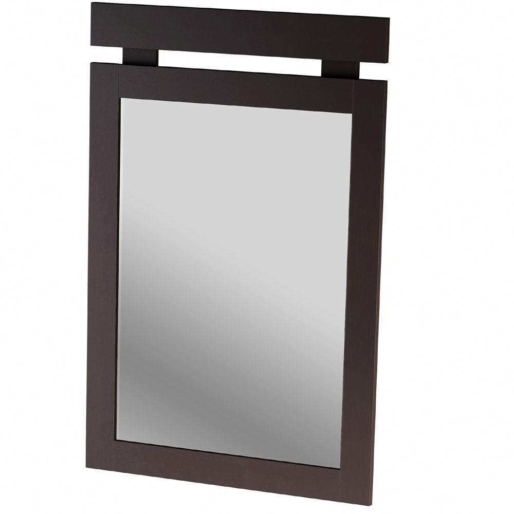 South Shore Spectra 42.75 in. x 20 in. Choclate Framed Mirror