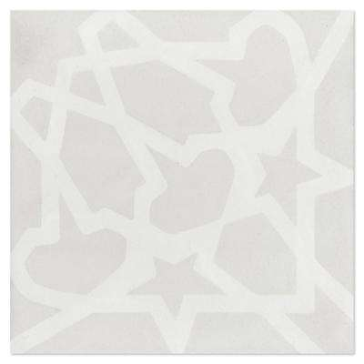 Andalusia Fog (PS) 7-7/8 in. x 7-7/8 in. Cement Handmade Floor and Wall Tile