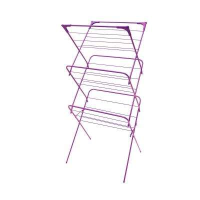 24.5 in. x 53.5 in. Purple Enamel Coated Steel Garment Rack