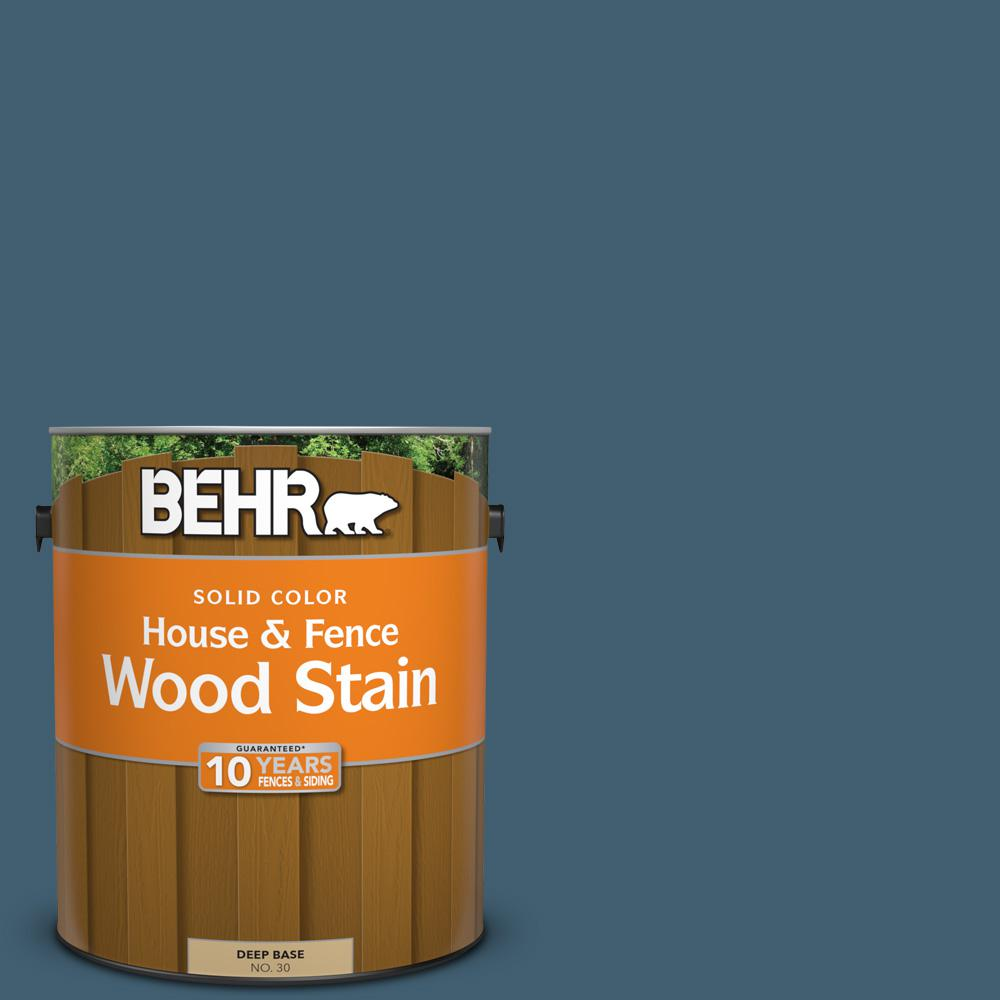 BEHR 1 gal. #SC-107 Wedgewood Solid Color House and Fence Wood Stain