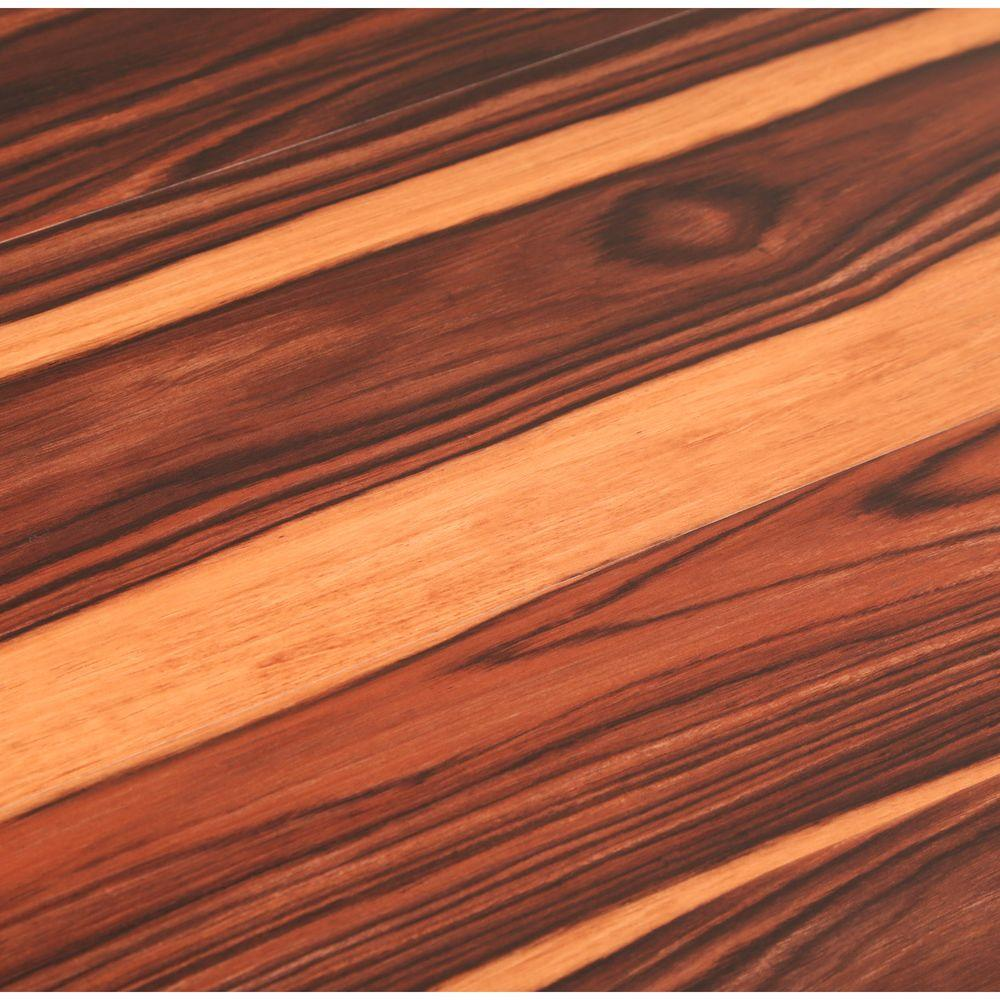 Trafficmaster take home sample african wood dark for Pvc wood flooring